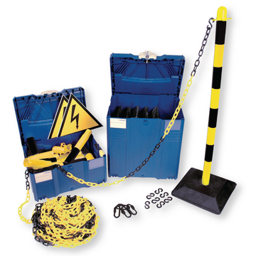 Stackable Safety Boundary post yellow/black Basic